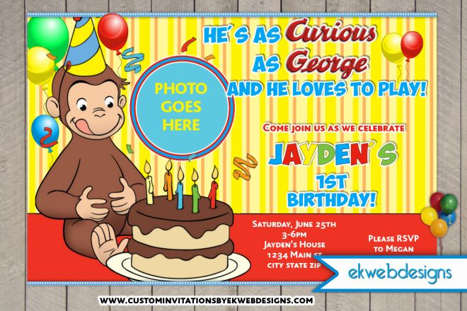 curious george birthday invitation template ; Curious-Popular-Free-Curious-George-Invitation-Template