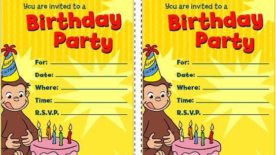curious george birthday invitation template ; curious-george-invitation