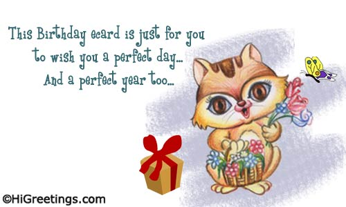 cute birthday card messages ; emailable-birthday-cards-send-ecards-cute-wishes-a-perfect-day
