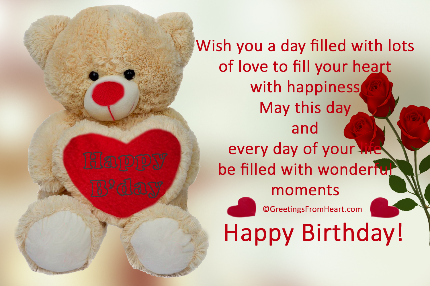cute birthday pics ; birthday-wish-with-teddy
