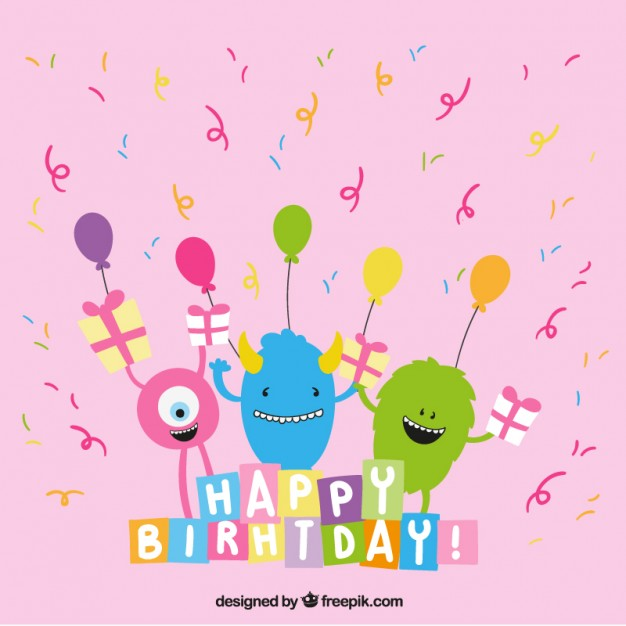 cute birthday pics ; cute-birthday-greeting-with-monsters_23-2147519333