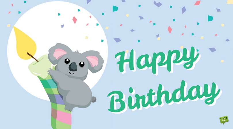 cute happy birthday pictures ; Birthday-wish-on-card-with-cute-koala-1
