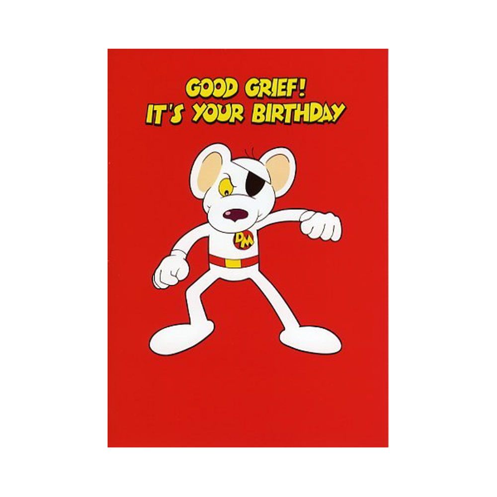 danger mouse birthday card ; danger-mouse-good-grief-birthday-card-a