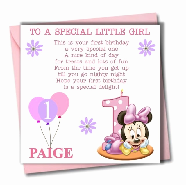 Daughter 1st Birthday Card Personalised Cards Awesome