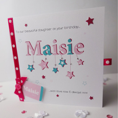 daughter 1st birthday card personalised ; 400x400