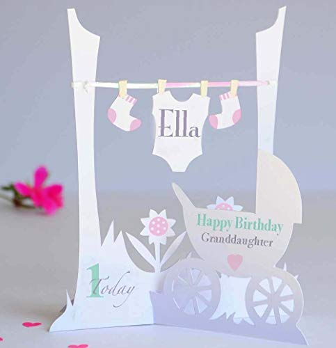 daughter 1st birthday card personalised ; 51Ig-fS5WSL