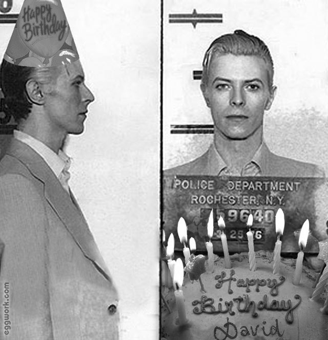 david bowie happy birthday ; bowie1976birthday