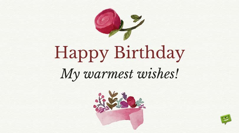 decent birthday wishes ; Happy-Birthday-message-on-cute-card-with-retro-floral-elements-1