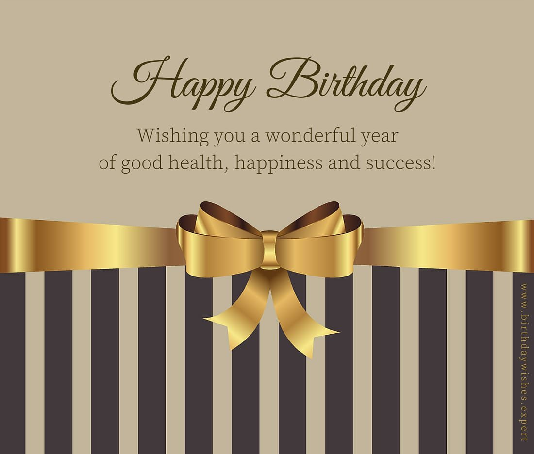 decent birthday wishes ; Happy-Birthday-wish-on-image-with-golden-ribbon-for-formal-use