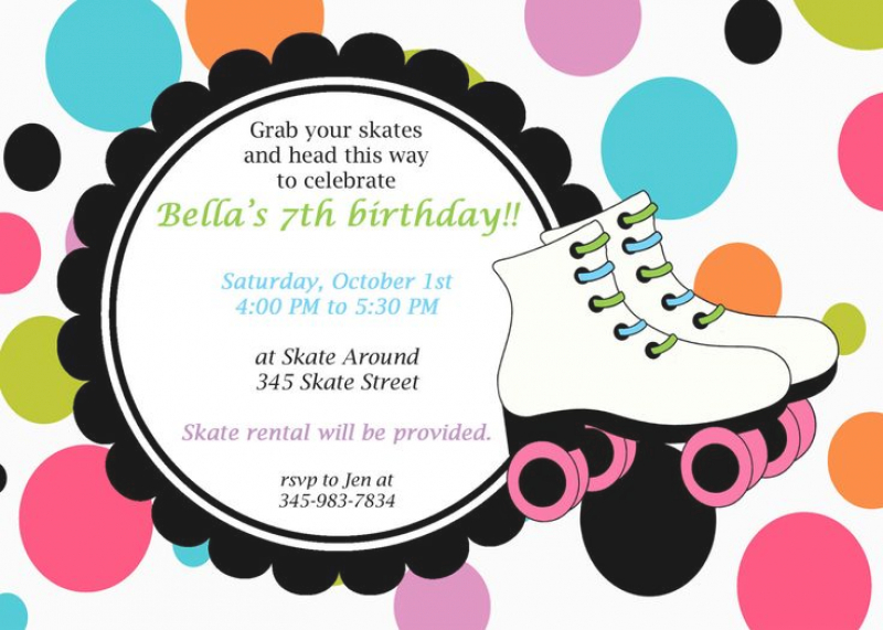 disco birthday invitation templates free ; free-roller-skating-party-invitation-template-to-print-1