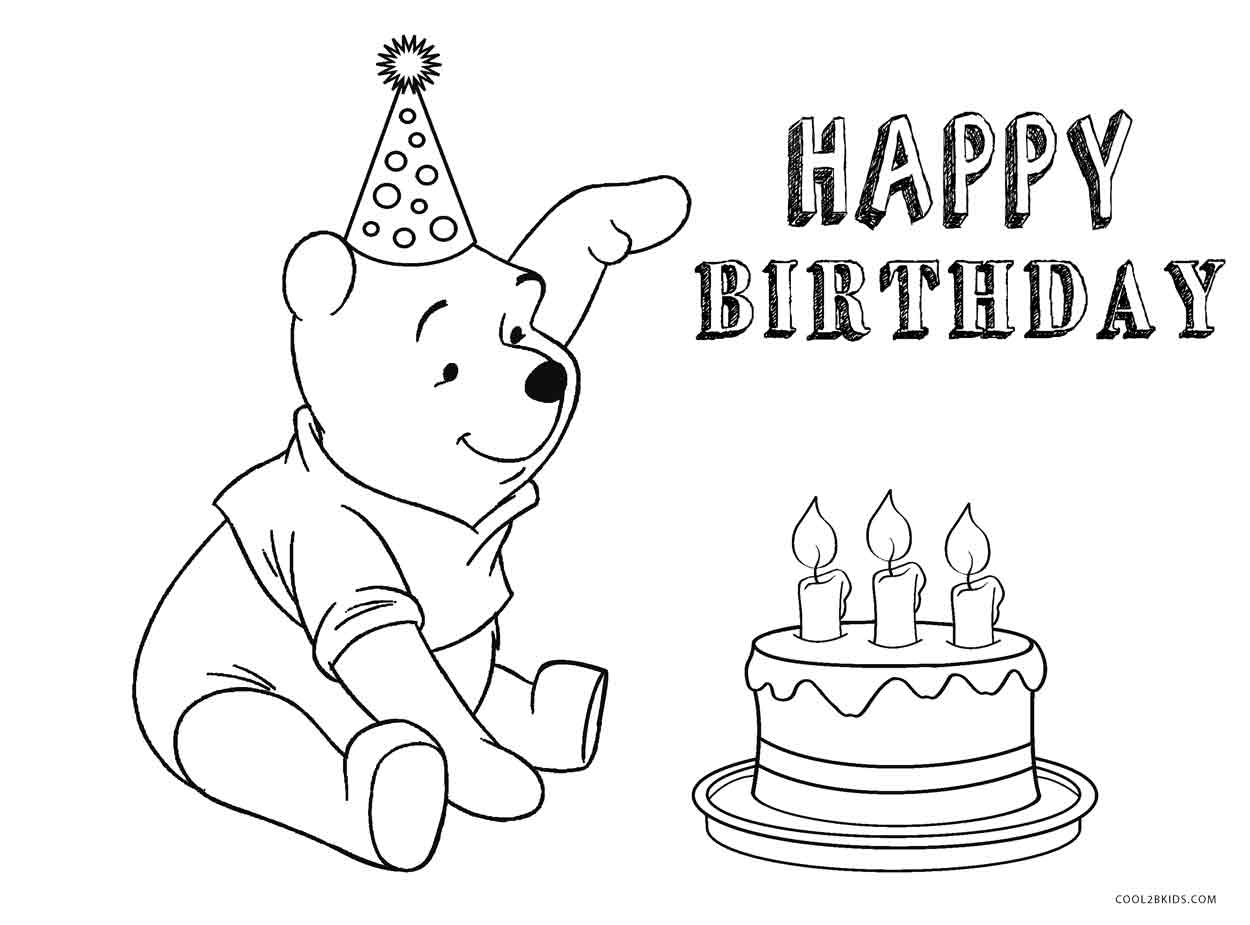 disney happy birthday coloring pages ; Disney-Birthday-Cake-Coloring-Page