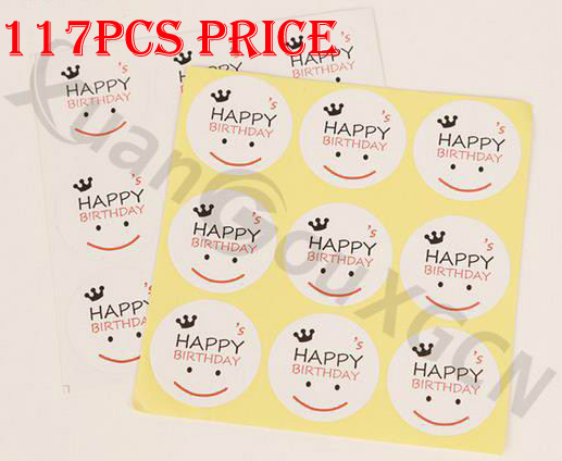 diy birthday gift tags ; 117pcs-DIY-Baking-seal-stickers-happy-birthday-Smiling-face-Gift-Tags-Wedding-Favors-Party-Label-MarksBurlap