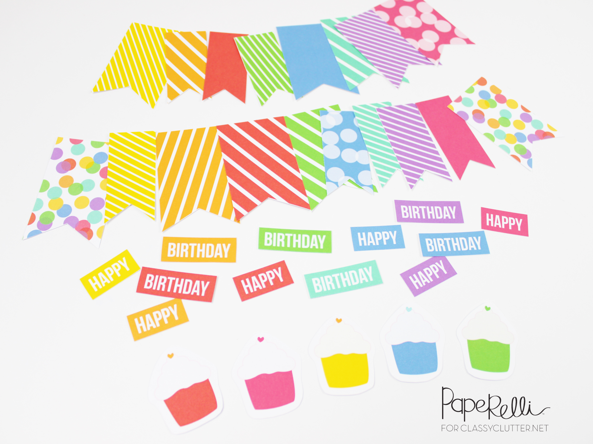 diy birthday gift tags ; Colorful-Birthday-Tags