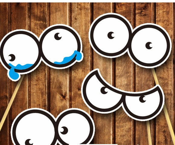 diy photo booth props birthday ; 4-Different-Round-eyes-DIY-Photo-Booth-props-wedding-party-marriage-supplies-on-sticks-baby-Birthday