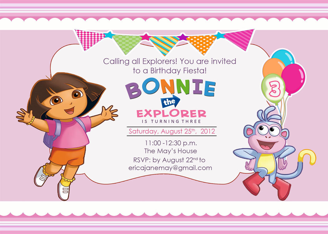 dora birthday greeting cards ; dora-birthday-party-invitations-is-your-newest-idea-of-remarkable-Party-invitation-6