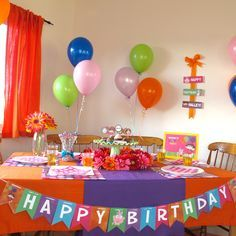 dora colors for birthday party ; 0dbd60f4d91f3bed61e6c212cd695eef