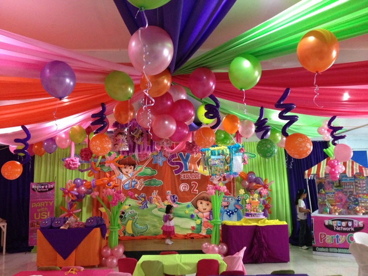 dora colors for birthday party ; 53867a0e1f981b5c8af740c59e4a0077--theme-parties-parties-decorations