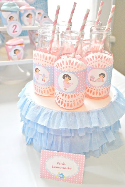 dora colors for birthday party ; 5f9c7e12ed5d21687f5a99ad322f85bd--pink-lemonade-rd-birthday