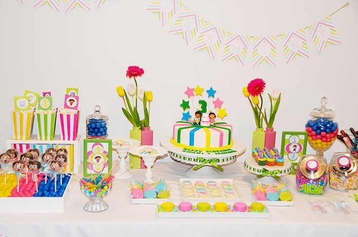 dora colors for birthday party ; DORA-DIEGO-BIRTHDAY-PARTY-1