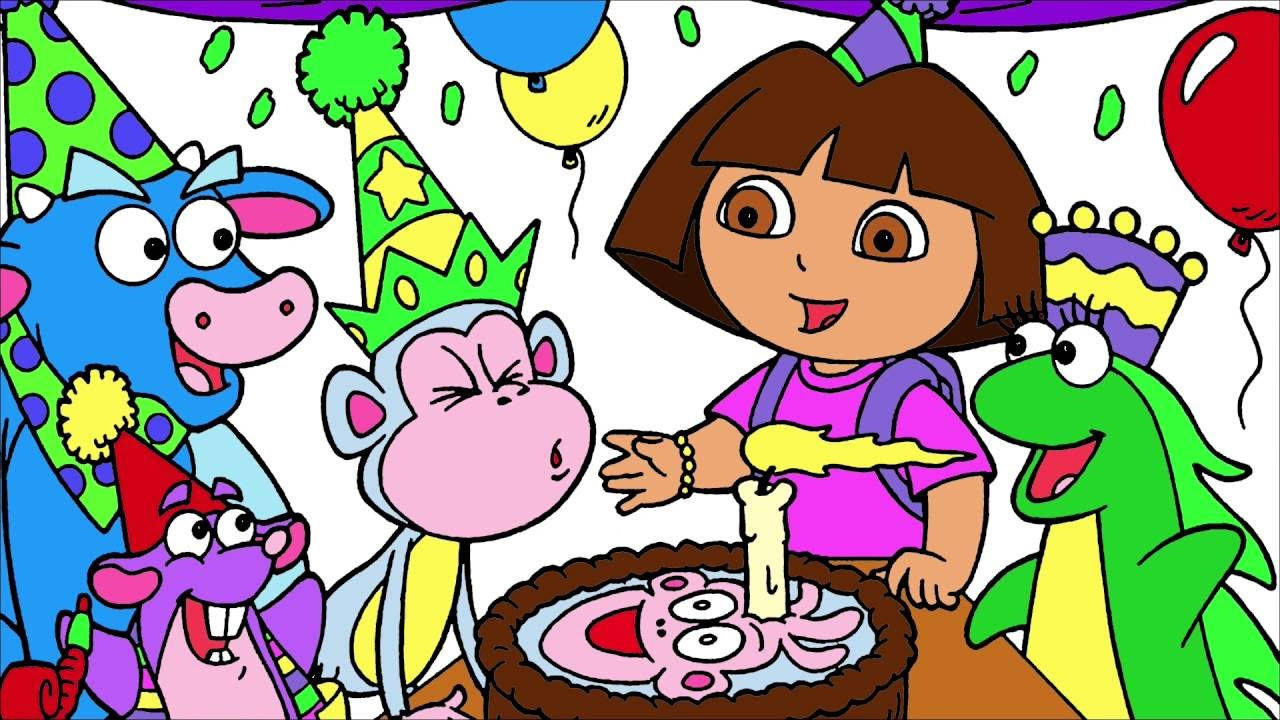 dora colors for birthday party ; maxresdefault