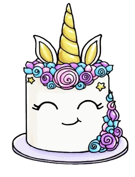 draw so cute birthday cake ; a4b72d1302edf7c1dcdc8c749f530d37