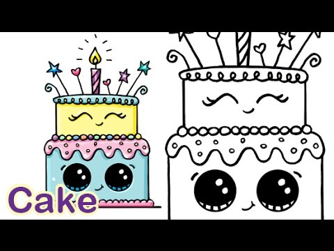 draw so cute birthday cake ; hqdefault