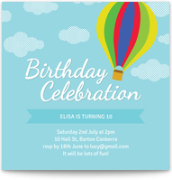 Electronic Birthday Invitations