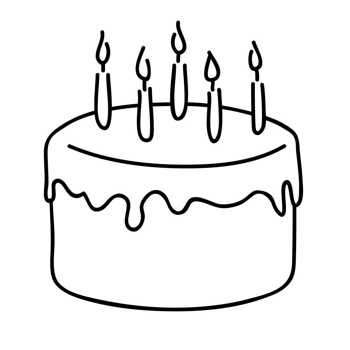 easy birthday pictures to draw ; simple-birthday-cake-drawing-birthday-cake-clip-art-black-clip-art-pinterest-coloring