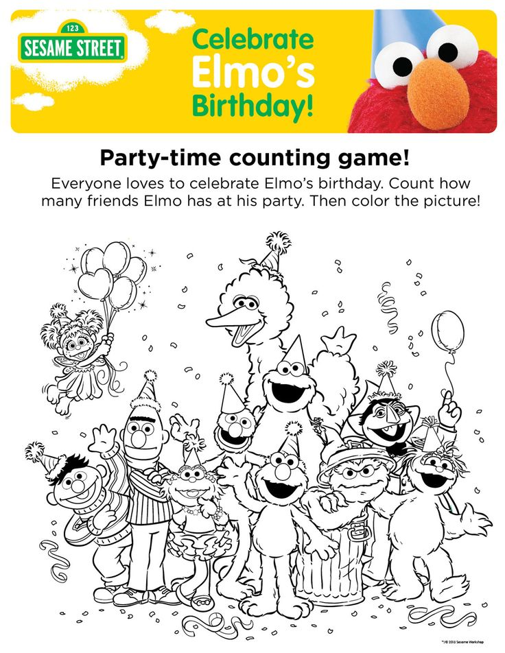 elmo birthday coloring pages to print ; 0807ff4427102a2feb4cc8e51de5c9da--elmo-birthday-birthday-party-ideas