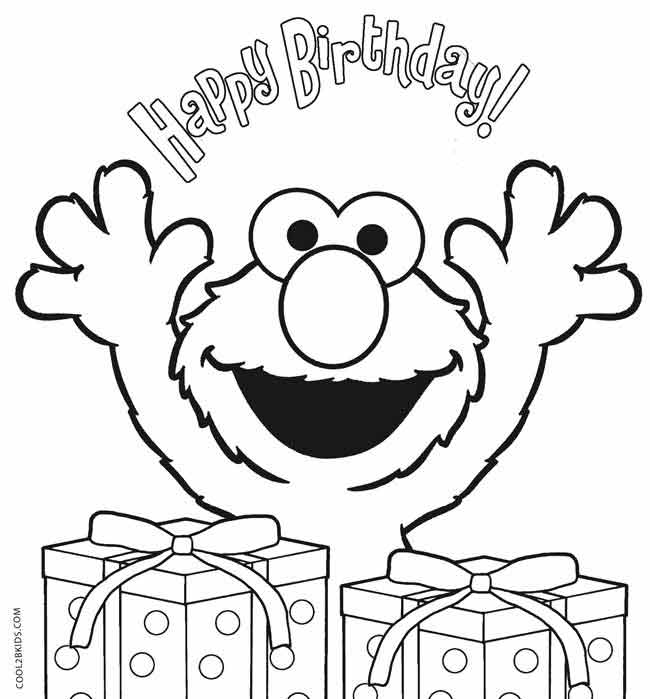 elmo birthday coloring pages to print ; Elmo-Birthday-Coloring-Pages