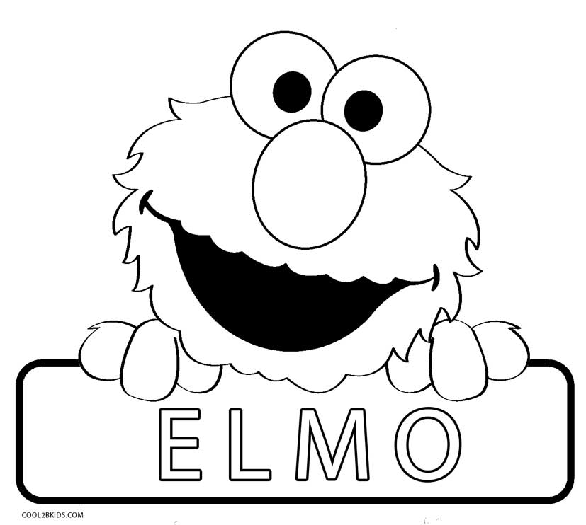 elmo birthday coloring pages to print ; Elmo-Coloring-Pages-Free-Printable