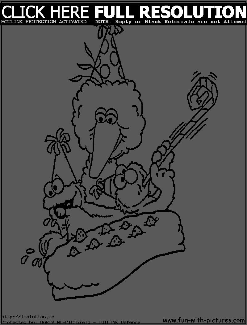 elmo birthday coloring pages to print ; sesame-street-coloring-pages-free-printable-orango-and-st-birthday