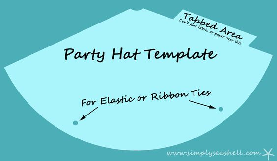 fabric birthday hat template ; party-hat-template_102044