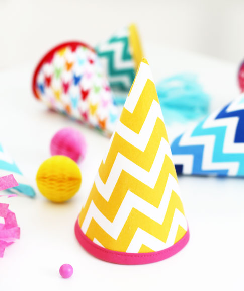 fabric birthday hat template ; party-hat-tutorial-ann-kelle