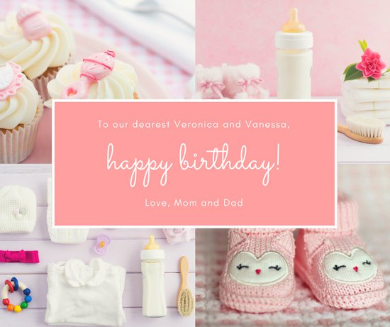 facebook birthday picture collage ; canva-pink-collage-baby-1st-birthday-facebook-post-MACPwFFaTLs
