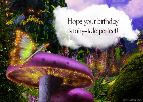 fairy tail birthday card ; graphic1