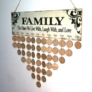 family birthday calendar sign ; 1513571327680669083