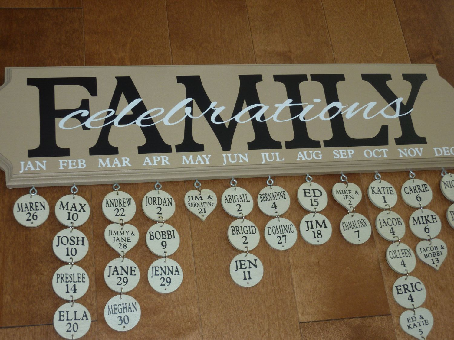 family birthday calendar sign ; 2f36f996d5768ae8833f33cca729992a