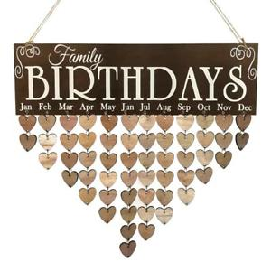 family birthday calendar sign ; s-l300