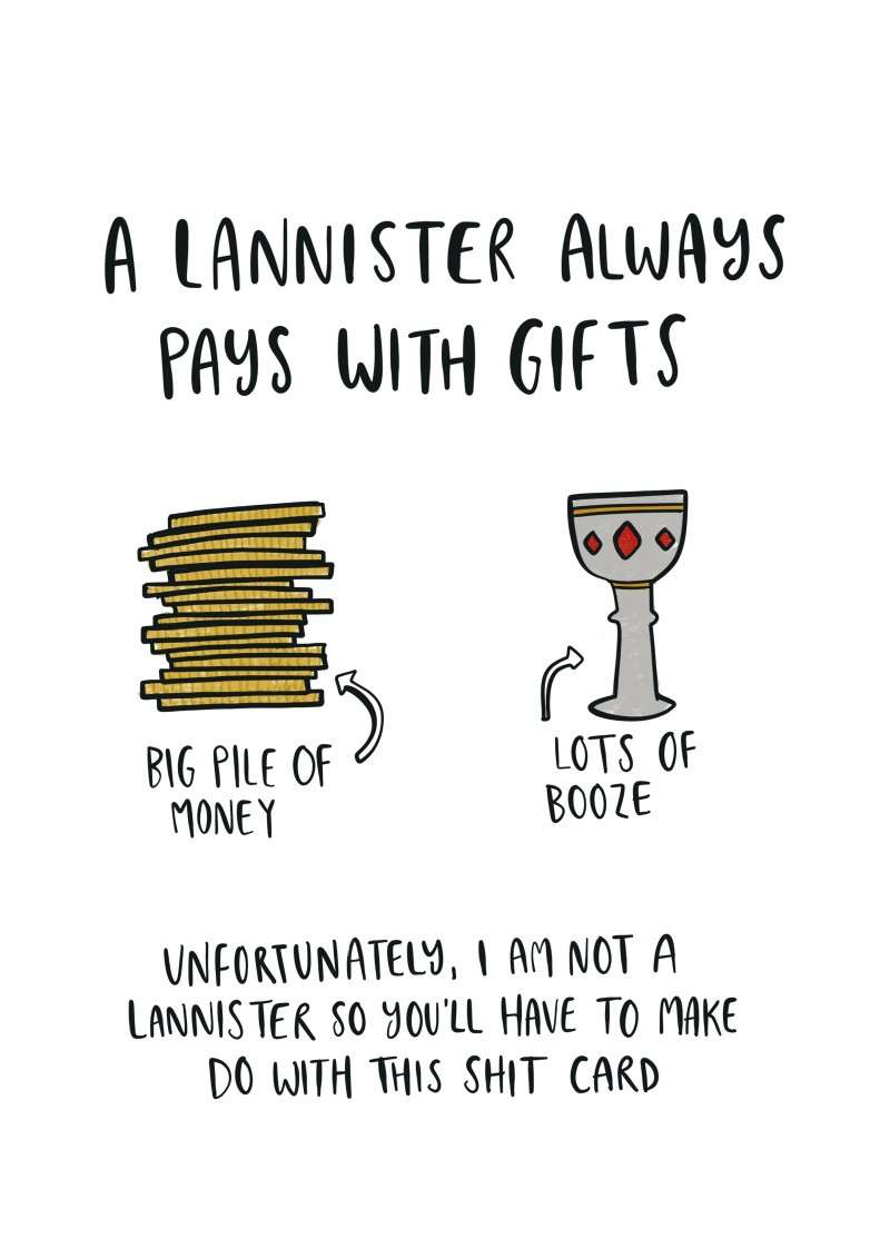 fat birthday card ; game_of_thrones_lannister