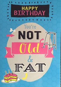 fat birthday card ; s-l300