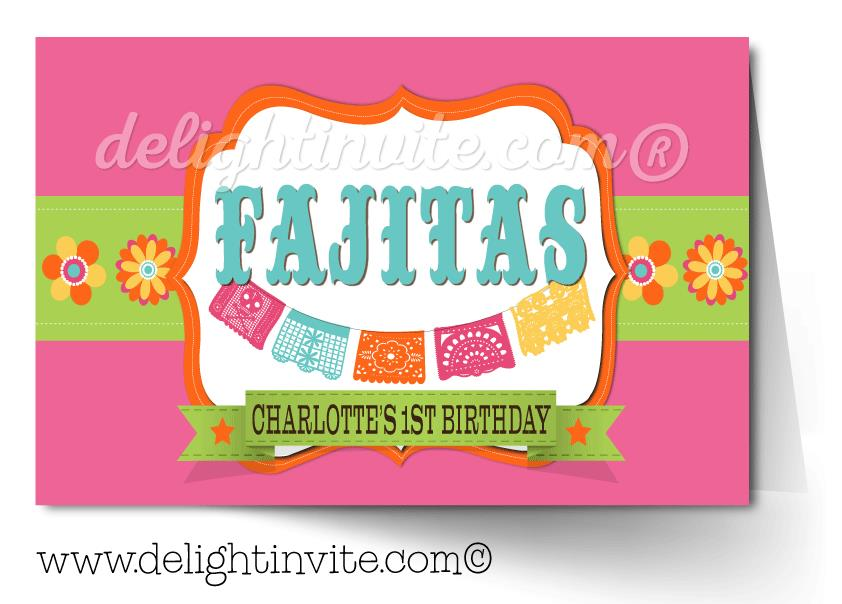 fiesta birthday card ; Fiesta_Pink_Food_Tent_DI-272TC