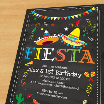 fiesta birthday card ; x354-q80