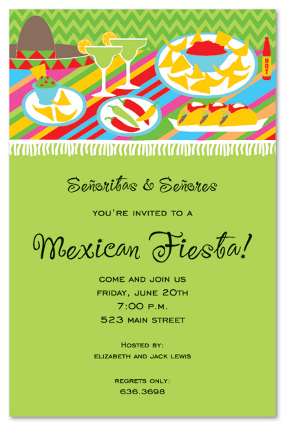 fiesta birthday party invitation wording ; 15887