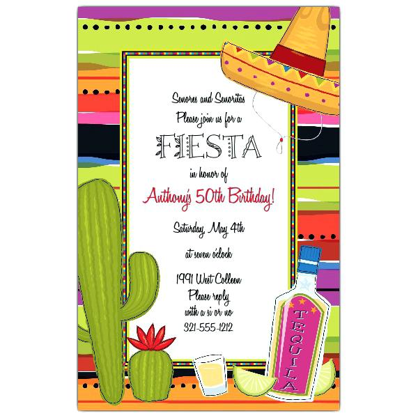 fiesta birthday party invitation wording ; fiesta-party-invitations-tequila-and-lime-fiesta-birthday-invitations-fiesta-theme-party-invitation-wording