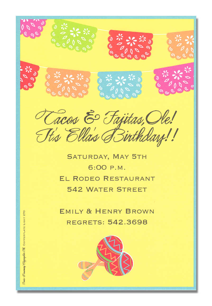 fiesta birthday party invitation wording ; mexican-banner-cinco-de-mayo