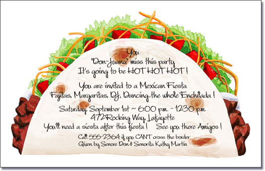 fiesta birthday party invitation wording ; ztaco