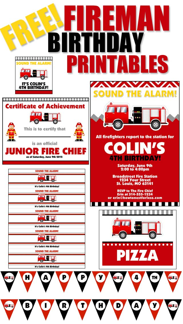 firefighter birthday invitation template ; FREE-FIREMAN-BIRTHDAY-PRINTABLES