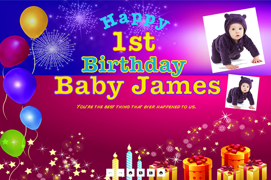 first birthday background tarpaulin ; 2-color-background-2