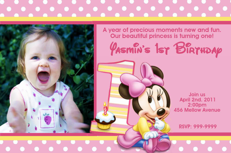 first birthday background tarpaulin ; Pink-Minnie-Mouse-1st-Birthday-Invitations
